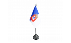 Tischflagge Portugal royal 1830-1910 - 10 x 15 cm