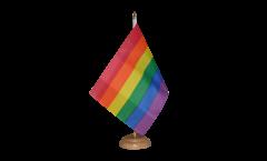 Tischflagge Regenbogen - 10 x 15 cm