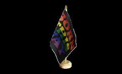 Tischflagge Regenbogen Born This Way - 15 x 22 cm