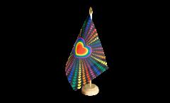 Tischflagge Regenbogen Liebe - 15 x 22 cm