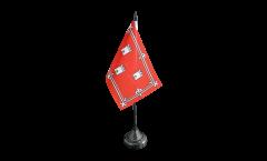 Tischflagge Schottland Aberdeen - 10 x 15 cm