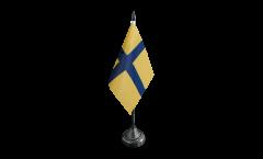 Tischflagge Schweden historische Provinz Östergotland