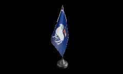 Tischflagge Schweden Provinz Gotlands län - 10 x 15 cm