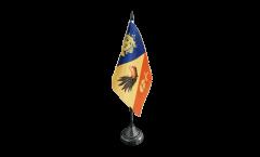 Tischflagge Schweden Provinz Stockholms län - 10 x 15 cm