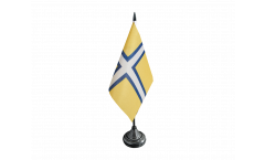 Tischflagge Schweden Provinz Västergötland historisch - 10 x 15 cm