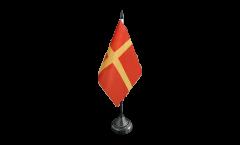 Tischflagge Schweden Schonen Skane - 10 x 15 cm