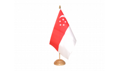 Tischflagge Singapur - 15 x 22 cm