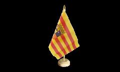 Tischflagge Spanien Aragonien - 10 x 15 cm