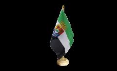 Tischflagge Spanien Extremadura - 10 x 15 cm