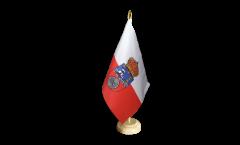 Tischflagge Spanien Kantabrien - 10 x 15 cm