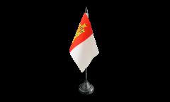 Tischflagge Spanien Kastilien-La Mancha - 10 x 15 cm