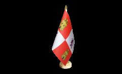 Tischflagge Spanien Kastilien-Leon - 10 x 15 cm