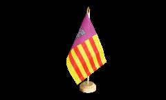 Tischflagge Spanien Mallorca - 15 x 22 cm