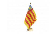 Tischflagge Spanien Valencia - 10 x 15 cm