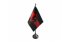 Tischflagge Sudetenland mit Wappen - 10 x 15 cm
