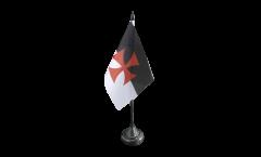 Tischflagge Tempelritter - 10 x 15 cm