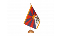 Tischflagge Tibet - 15 x 22 cm