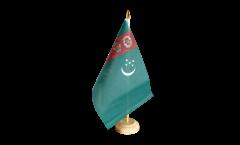 Tischflagge Turkmenistan - 15 x 22 cm
