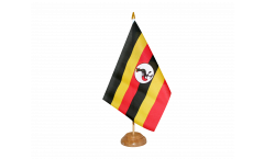 Tischflagge Uganda - 15 x 22 cm