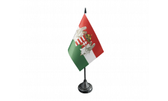 Tischflagge Ungarn Königreich 1867-1918 - 10 x 15 cm