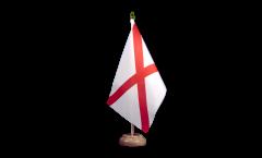 Tischflagge USA Alabama - 15 x 22 cm