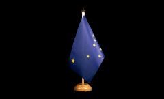 Tischflagge USA Alaska - 15 x 22 cm