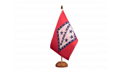 Tischflagge USA Arkansas - 15 x 22 cm