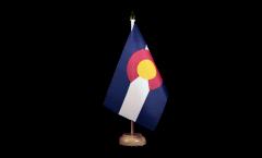 Tischflagge USA Colorado - 15 x 22 cm