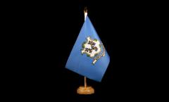 Tischflagge USA Connecticut - 15 x 22 cm