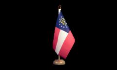 Tischflagge USA Georgia - 15 x 22 cm
