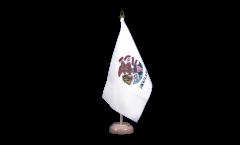 Tischflagge USA Illinois - 15 x 22 cm