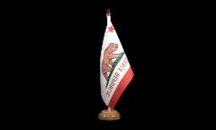 Tischflagge USA Kalifornien - 15 x 22 cm