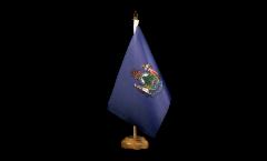 Tischflagge USA Maine - 15 x 22 cm