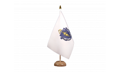 Tischflagge USA Massachusetts - 15 x 22 cm