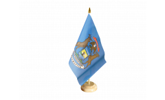 Tischflagge USA Michigan - 15 x 22 cm