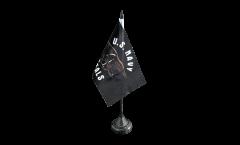 Tischflagge USA Navy Seals - 10 x 15 cm