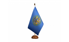 Tischflagge USA Nebraska - 15 x 22 cm