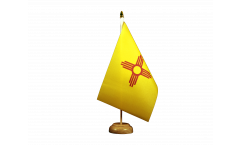 Tischflagge USA New Mexico - 15 x 22 cm