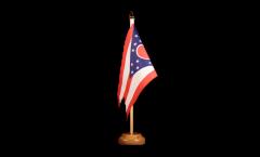 Tischflagge USA Ohio - 15 x 22 cm