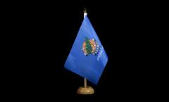 Tischflagge USA Oklahoma - 15 x 22 cm