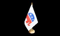 Tischflagge USA Republikaner Republicans - 15 x 22 cm