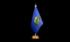 Tischflagge USA Vermont - 15 x 22 cm