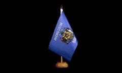 Tischflagge USA Wisconsin - 15 x 22 cm