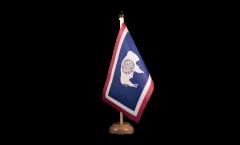 Tischflagge USA Wyoming - 15 x 22 cm