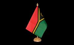 Tischflagge Vanuatu - 15 x 22 cm