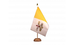 Tischflagge Vatikan - 15 x 22 cm