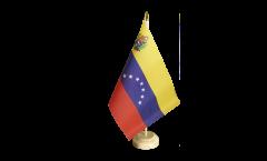 Tischflagge Venezuela 7 Sterne mit Wappen 1930-2006 - 15 x 22 cm