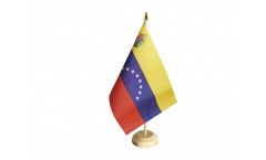 Tischflagge Venezuela 8 Sterne mit Wappen - 15 x 22 cm