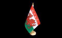 Tischflagge Wales CYMRU - 15 x 22 cm