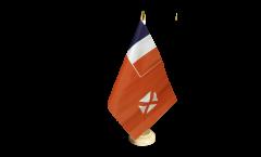 Tischflagge Wallis und Futuna - 15 x 22 cm